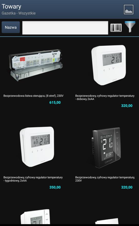 Zdjęcia produktów w systemie mobilny sprzedawca