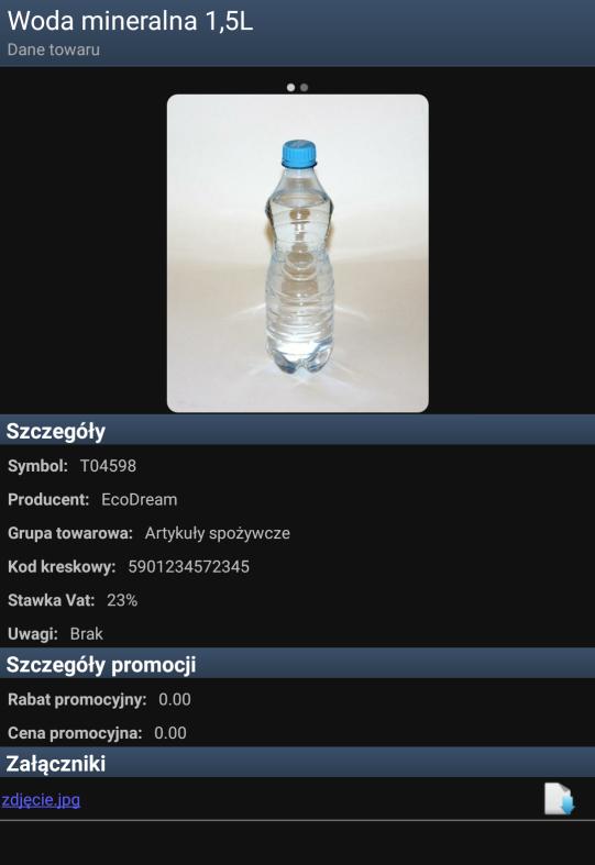 Szczegóły na karcie towarowej mobilnego sprzedawcy - zdjęcie produktu