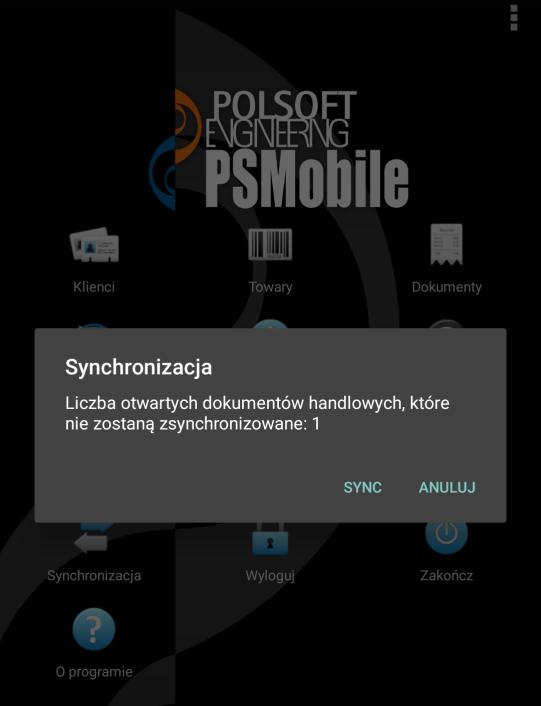 Kontrola dokumentów niezatwierdzonych przy synchronizacji systemu dla PH