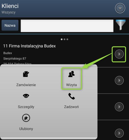 Ikona nowej wizyty klienta w aplikacji mobilnej dla PH
